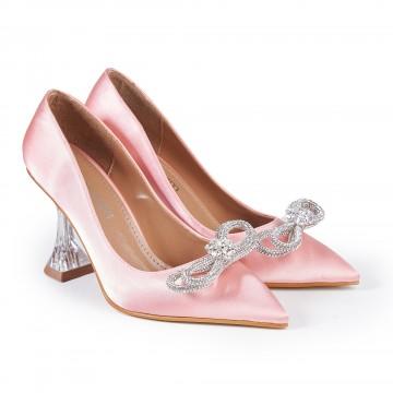Siyah Deri Tokalı Kalın Topuklu Bayan Bot 7006