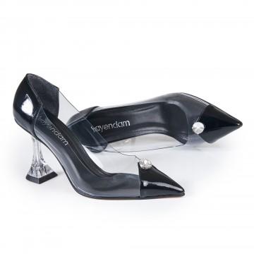 Fiyonklu Haki Krokodil Burun Detaylı Bayan Ayakkabı 4545
