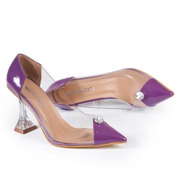 Taba Krokodil Burun Detaylı Bayan Ayakkabı 4046