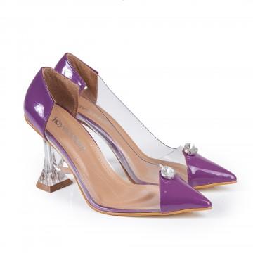 Siyah Krokodil Burun Detaylı Bayan Ayakkabı 4046