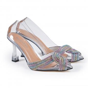 Bej Rengi Jüt Alçak Topuklu Bayan Sandalet 5060