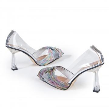 Kısa Topuklu Hasır Sandalet 4030