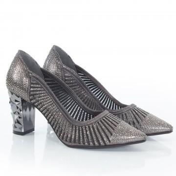 Siyah Süet Çapraz Atkılı Sandalet 5059