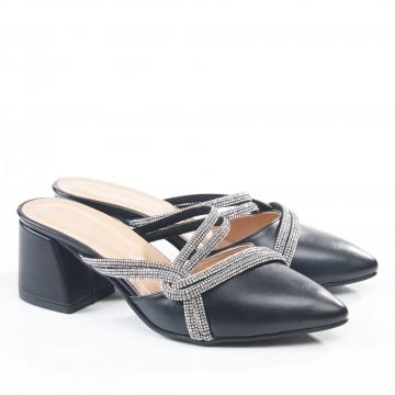 Siyah Arkası Açık Sandalet Tip Ayakkabı 4043