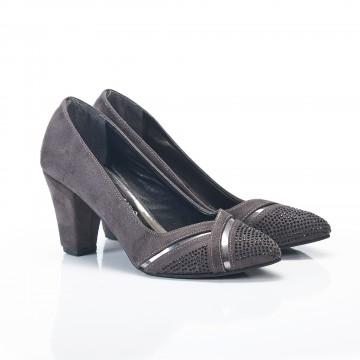 Platin Rengi Aynalı Bayan Sandalet 5055