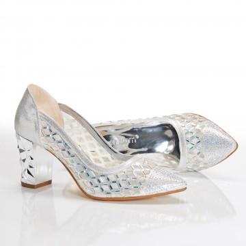 Kısa Topuklu Siyah Sandalet 4030