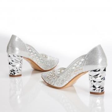 Kısa Topuklu Siyah Süet Sandalet 4030