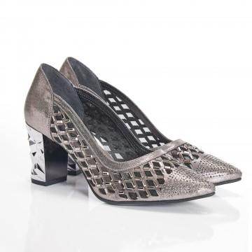 Siyah Süet Alçak Topuklu Bayan Sandalet 5060