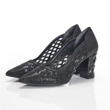 Siyah İnce Bantlı Bayan Sandalet 5030
