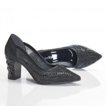 Camel Rengi Süet İnce Bantlı Bayan Sandalet 5030