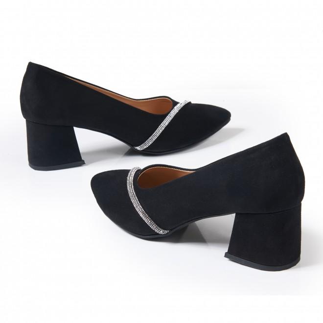 Leopar Desenli Sivri Burunlu Arkası Açık Sandalet 5053