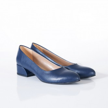 Lacivert Alçak Topuk Klasik Ayakkabı 4040