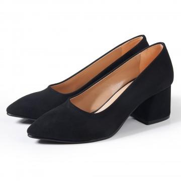 Siyah Bilekten Bağlı Çapraz Atkılı Topuklu Sandalet 5051